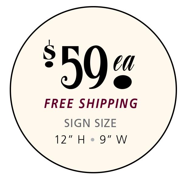 Wine Tree Signs - $49