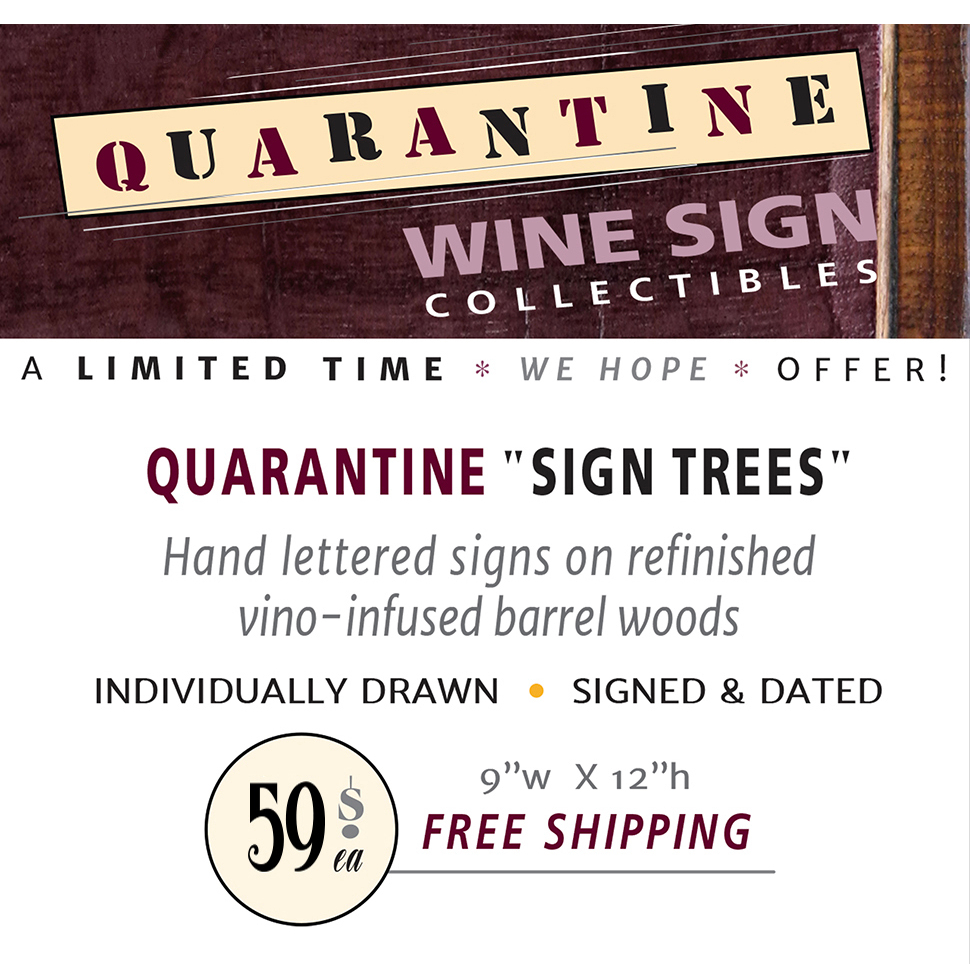 Quarantine Wine Signs